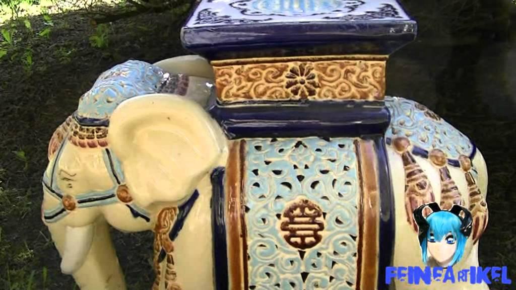keramik elefant Elefant Keramik Blumenständer, Blumenhocker (kein Porzellan)   YouTube keramik elefant