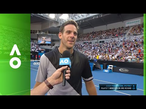 Juan Martin del Potro on court interview (2R) | Australian Open 2018