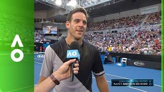 Juan Martin del Potro on court interview (2R)   Australian Open 2018
