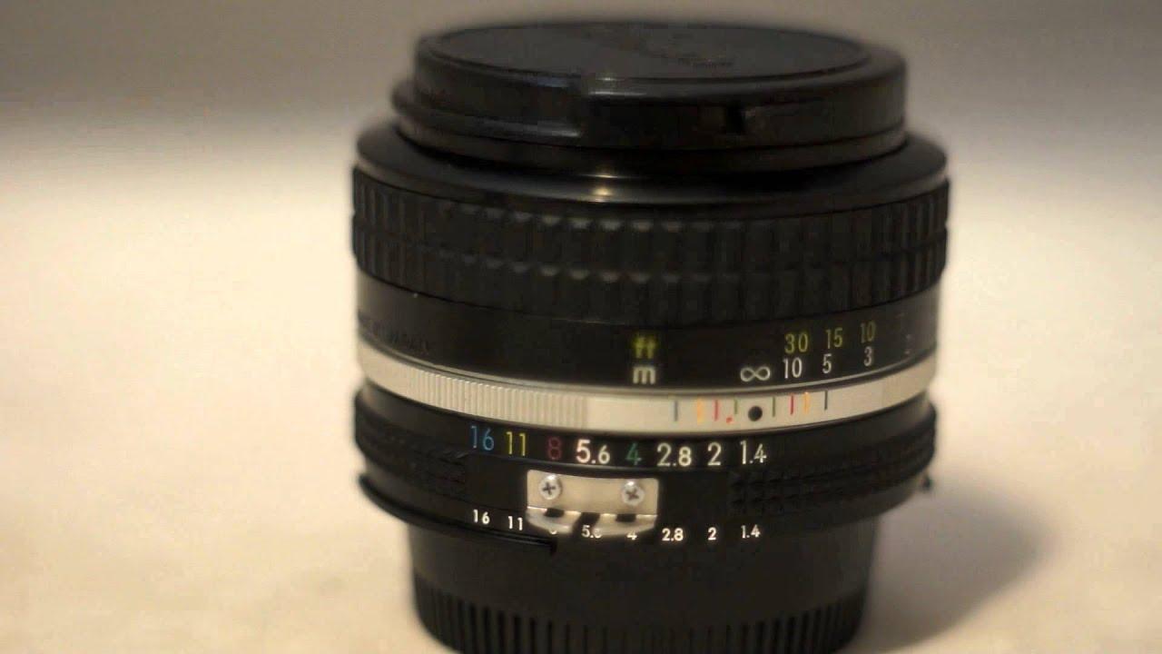 nikon nikkor 50mm f1 4 ai vintage manual focus prime lens review rh youtube com Nikon Lenses Complete List New Nikon Lenses