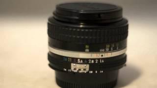 Никон Никкор 50мм Ф1.4 ІІ старовинні ручного фокусування об'єктив коментар