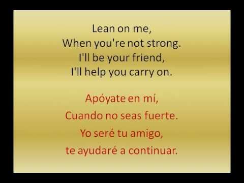 Michael Bolton - Lean on me. (with lyrics spanish and english).