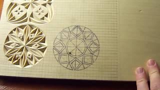 Геометрическая резьба по дереву. Урок 19 (geometric wood carving)