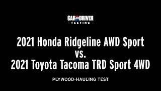 homepage tile video photo for Redesigned 2021 Ridgeline vs. 2021 Tacoma: Hardware Store Hauling