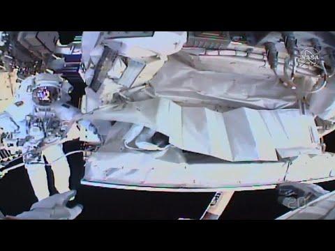 شاهد: رائدا فضاء يصلحان نظام التبريد على متن المحطة الفضائية الدولية…  - 18:59-2020 / 1 / 25