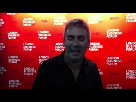 Peter Fisk at the London Business Forum Middle East