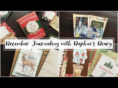 December Journaling with Daphnes Diary Magazine | December Junk Journal with me