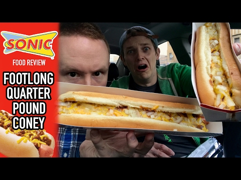 Sonic Drive-In's Footlong Quarter Pound Coney Food Review | Season 3, Episode 18