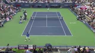 US Open 2011 Final Djokovic vs. Nadal HD Best points from Djokovic //Part 1//