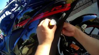 How to: Install LED Turn Signals Yamaha R3