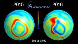 Stratospheric Ozone (O3): 2015 vs 2016