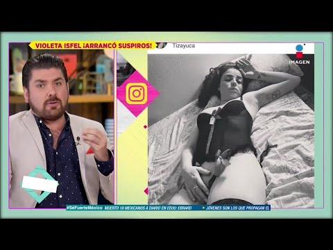 ¡ARDIENTE! ¿Violeta Isfel se arrepiente de haber subido una foto en lencería a sus redes?