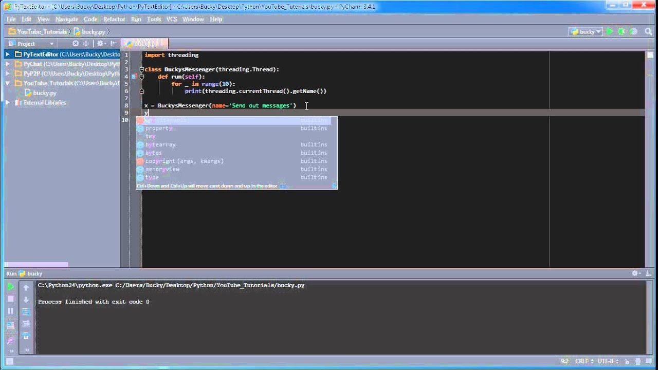 Python programming tutorial 34 threading youtube python programming tutorial 34 threading baditri Images