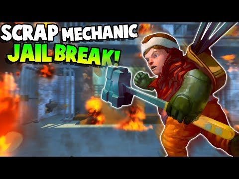 JAILBREAK! ESCAPE FROM PRISON! - Scrap Mechanic Gameplay Roleplay - Explosive Update