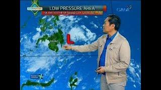 Low Pressure Area na binabantayan ng pagasa, magdamag na magpapaulan sa Visayas at Mindanao