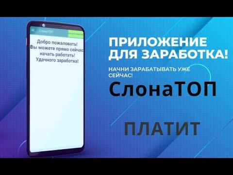 СлонаТОП Программа для заработка без вложений от 5 руб в час