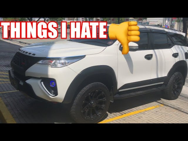 THINGS I HATE ABOUT MY FORTUNER l SHOUTOUT l ROAD TO 50K SUBS