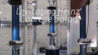 World's First Levitating Food: Heinz Caprese Salad And Acoustic Levitation