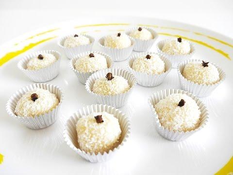 Brazilian Coconut Beijinho Truffles Recipe   BirdsParty.com