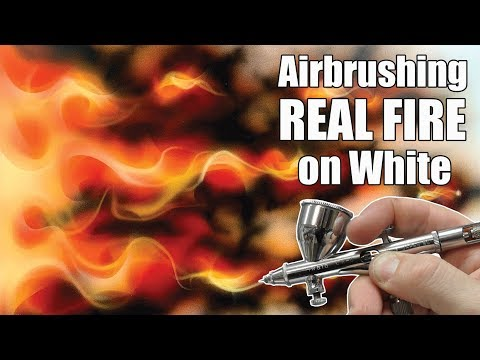 Learn how to Airbrush Real Fire using Createx Candy 2'0 and Fire Tool templates