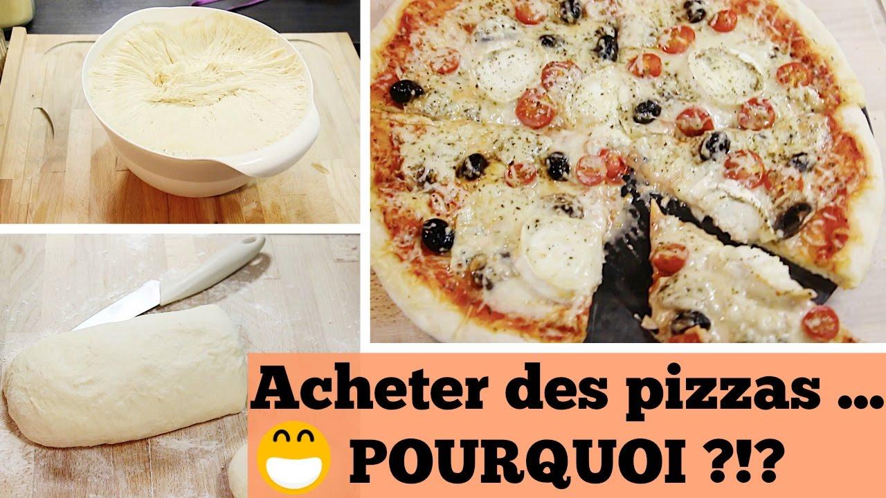 La Pate A Pizza Maison Super Simple En 5 Minutes Youtube