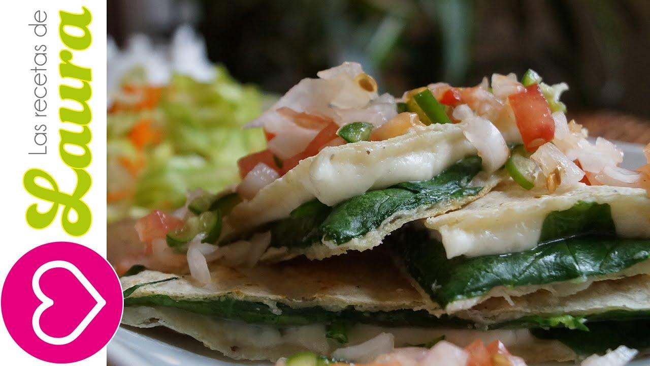 Como hacer quesadillas con espinacas comida saludable for Comidas faciles y saludables