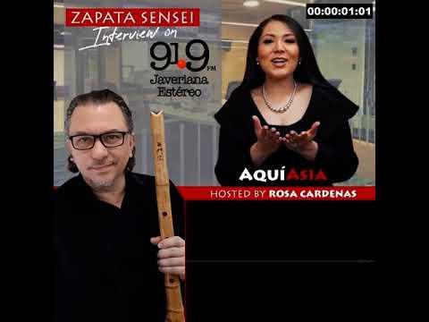 Zapata Sensei Interview on AQUI ASIA 91.9 FM Javeriana Estéreo