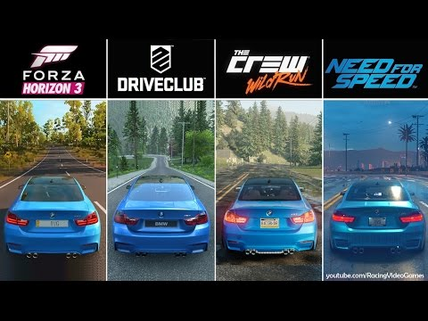 Save Forza Horizon 3 vs. DriveClub vs. The Crew vs. Need For Speed | Graphics, Rain Comparison PS4 & Xbox Snapshots