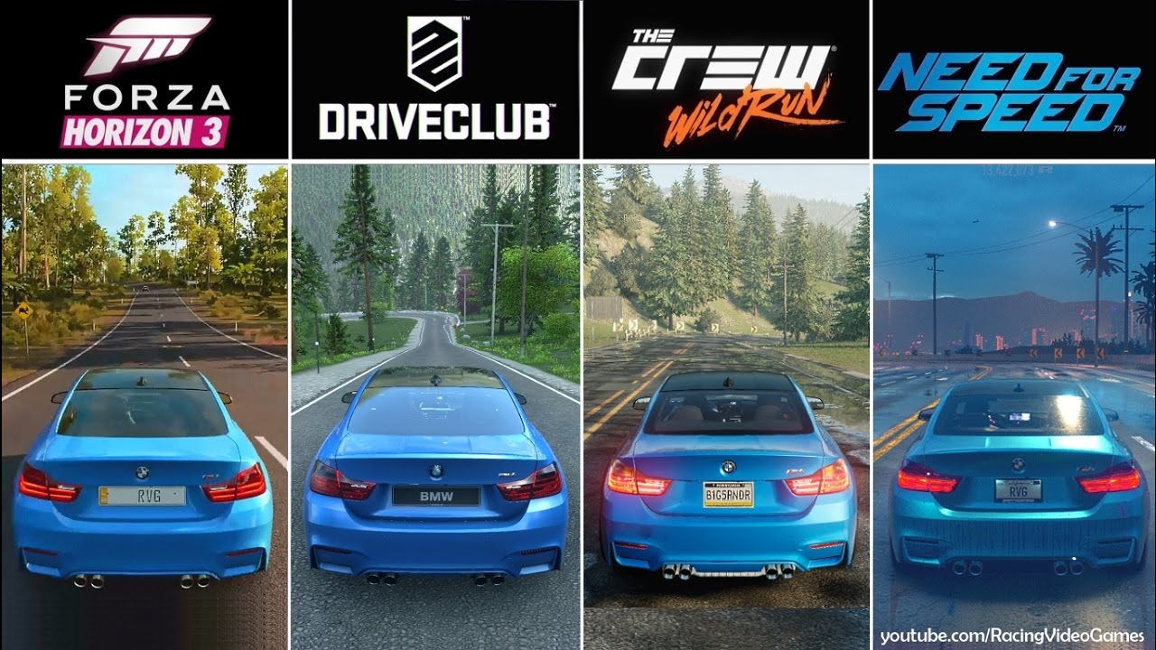 Forza Horizon Vs DriveClub Vs The Crew Vs Need For Speed - The crew us map