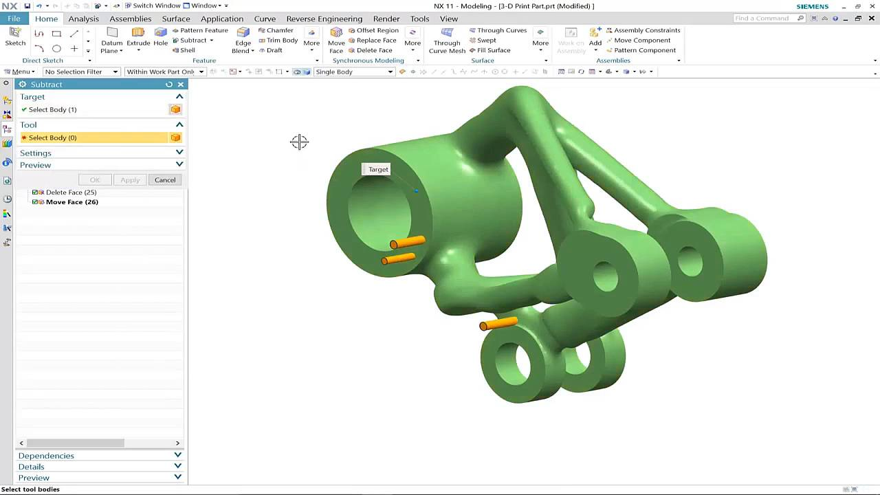 NX 11 Convergent Modeling and 3D Printing