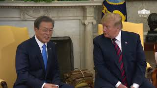 President Trump Meets with the President of the Republic of Korea