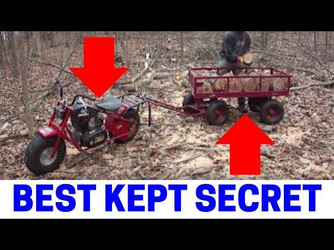 Buffalo Trail Sport Mini Bike with 2,200 Pound Capacity Wagon