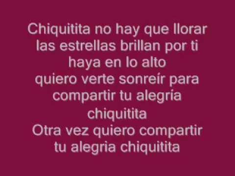 Chiquitita Abba Español Letra 1979 Youtube