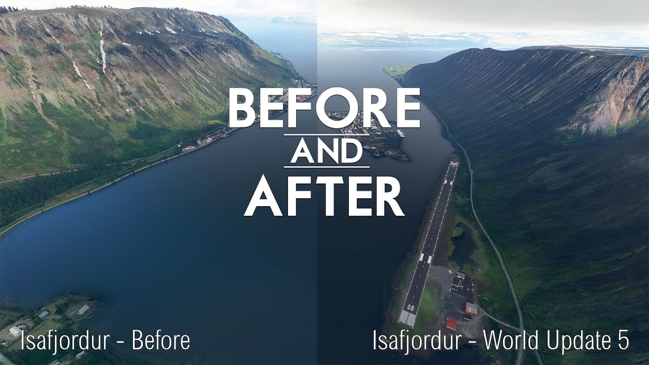 Microsoft Flight Simulator - Nordics Update - Before and After - World Update 5