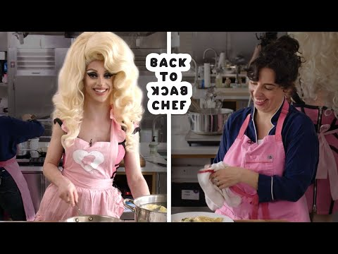 Miz Cracker Tries to Keep Up With a Professional Chef | Back-to-Back Chef | Bon Appétit