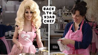 Miz Cracker Tries to Keep Up With a Professional Chef   Back-to-Back Chef   Bon Appétit by : Bon Appétit