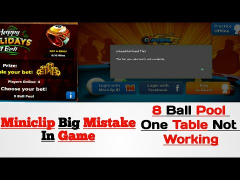 8 Ball Pool / Miniclip Big Mistake / One Table is Not Working