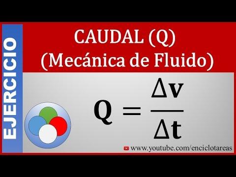 Calcular el Gasto Volumétrico O Caudal (fluído)