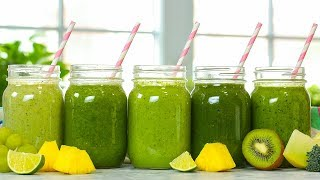5 Healthy Green Smoothies | Taste The Rainbow Part 3