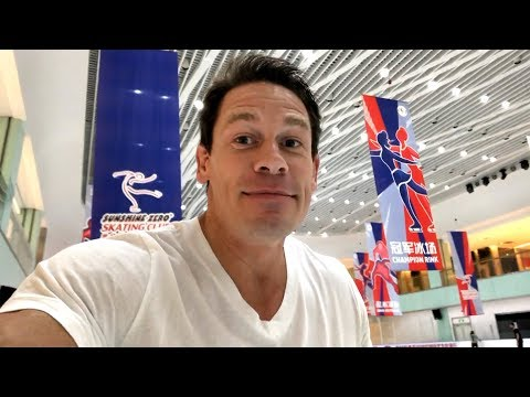 John Cena in China: Ice skating in Yinchuan