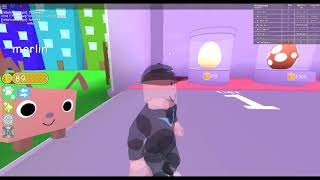 roblox pet simulator #1 The first bunny alive!!!