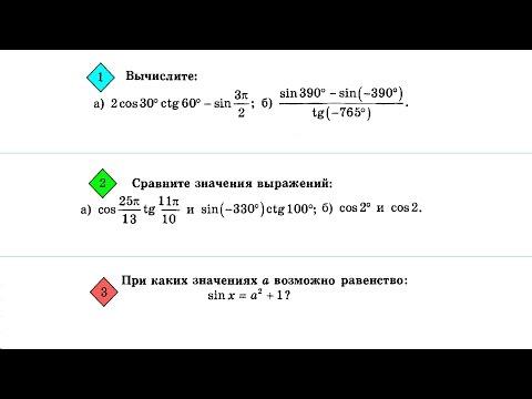 Контрольная работа по тригонометрии №1