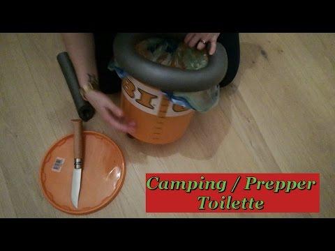 diy camping prepper toilette notfall toilette f r. Black Bedroom Furniture Sets. Home Design Ideas