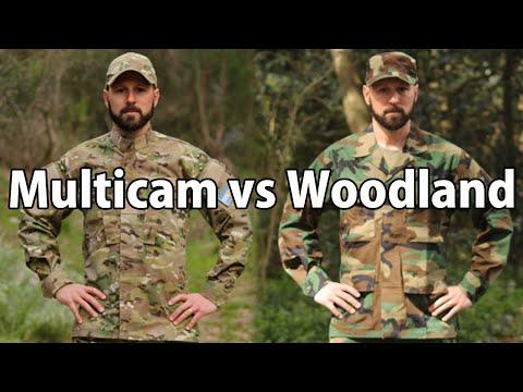 Multicam Vs Woodland M81