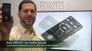 SONY RMX231 Car Audio System Remote  - www.ReplacementRemotes.com