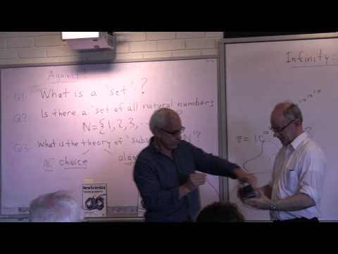 Infinity: does it exist?? A debate with James Franklin and N J Wildberger