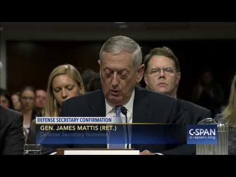Secretary of Defense Nominee Gen. James Mattis (Ret.) Opening Statement (C-SPAN)