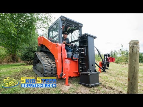 NEW Post Driver Developments for Skid Steer Loaders | Skid Steer Solutions