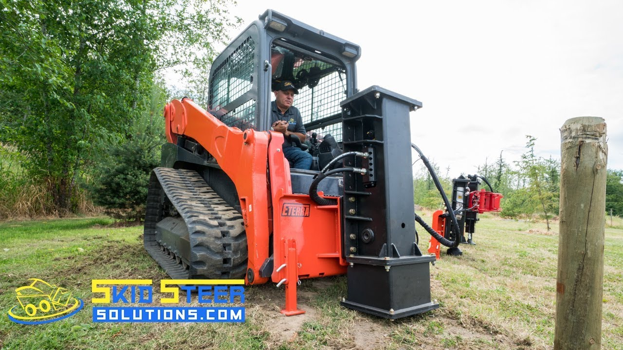 First Look: Skid Steer Post Driver Prototypes from Eterra