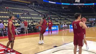 Collin Sexton, Donta Hall practice with Alabama basketball at NCAA tournament